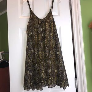 RVCA green pattern dress